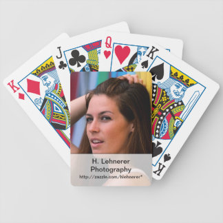 Portrait Of A Woman Bicycle Playing Cards
