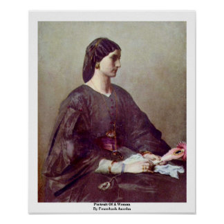 Portrait Of A Woman By Feuerbach Anselm Print