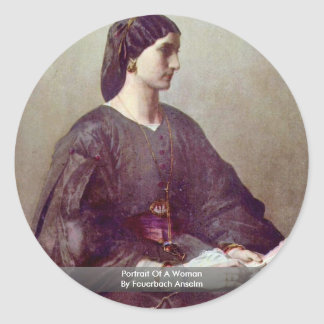 Portrait Of A Woman By Feuerbach Anselm Stickers
