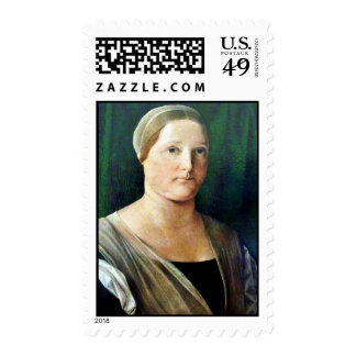 Portrait Of A Woman By Lotto Lorenzo (Best Quality Stamp
