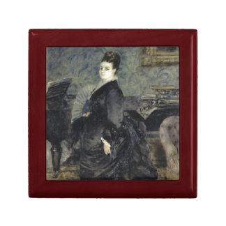 Portrait of a Woman by Pierre-Auguste Renoir Keepsake Boxes