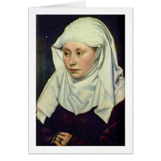 Portrait Of A Woman By Robert Campin Cards