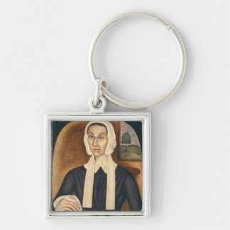 Portrait of a Woman, c. 1845 (oil on canvas) Keychain