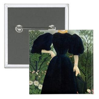 Portrait of a Woman, c.1895-97 Pinback Button