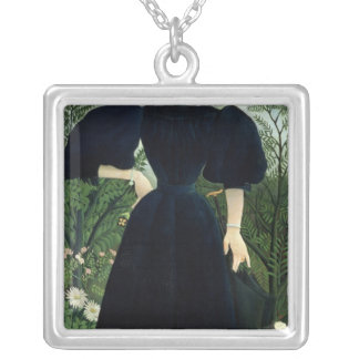 Portrait of a Woman, c.1895-97 Silver Plated Necklace