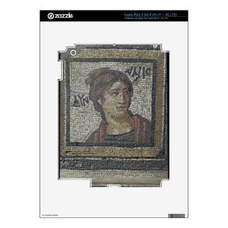 Portrait of a woman, detail of a mosaic pavement d iPad 3 skin