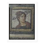 Portrait of a woman, detail of a mosaic pavement d postcards