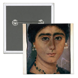 Portrait of a woman, from Fayum, 1st-4th century Pinback Button