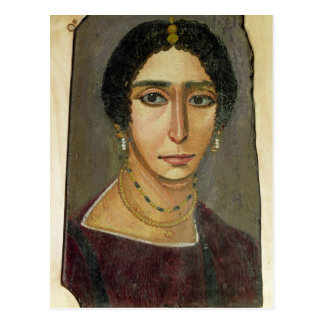 Portrait of a woman, from Fayum, 1st-4th century Postcard