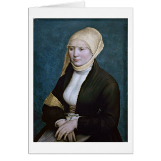 Portrait Of A Woman From Germany By Hans Holbein Card