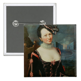 Portrait of a Woman Holding a Musical Score Button