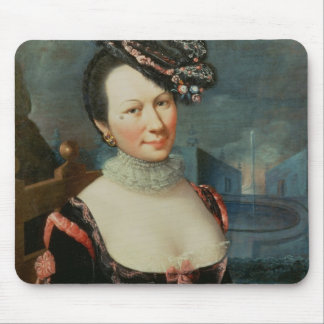 Portrait of a Woman Holding a Musical Score Mouse Pad