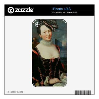 Portrait of a Woman Holding a Musical Score Skin For iPhone 4S