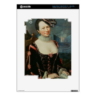 Portrait of a Woman Holding a Musical Score Skins For iPad 3