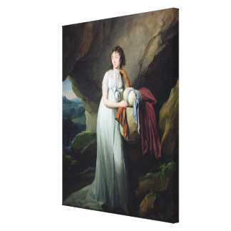 Portrait of a Woman in a Cave Canvas Print