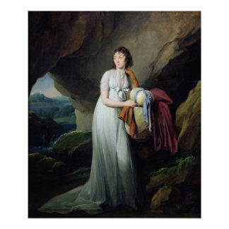 Portrait of a Woman in a Cave Poster