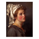 Portrait of a Woman in a Turban by Jacques David Post Card
