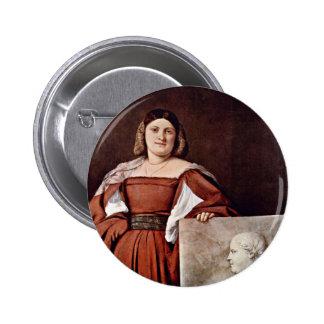 Portrait Of A Woman (La Schiavona) By Tizian Buttons