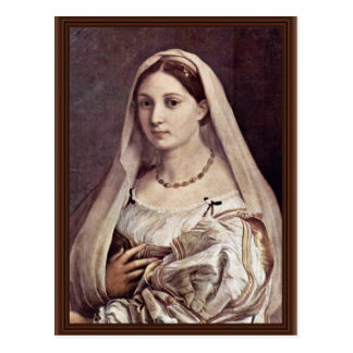 Portrait Of A Woman (La Velata) By Raffael Postcard