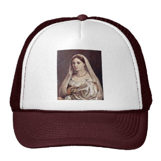 Portrait Of A Woman (La Velata) By Raffael Trucker Hat