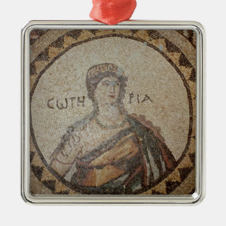 Portrait of a woman metal ornament