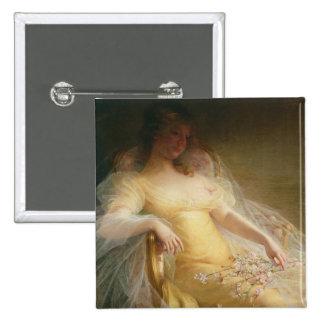 Portrait of a Woman (oil on canvas) Button
