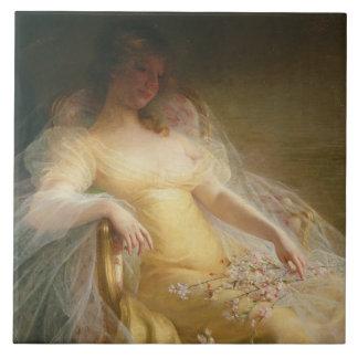 Portrait of a Woman (oil on canvas) Ceramic Tile