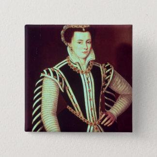 Portrait of a woman pinback button