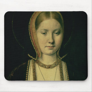 Portrait of a woman, possibly Catherine of Aragon Mouse Pad
