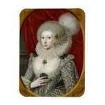 Portrait of a woman, possibly Frances Cotton, Lady Rectangular Magnets
