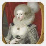 Portrait of a woman, possibly Frances Cotton, Lady Square Sticker
