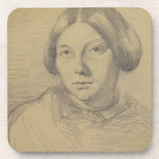 Portrait of a woman, possibly George Sand (1804-76 Coaster