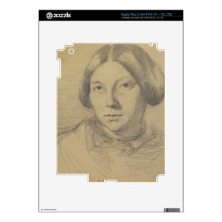 Portrait of a woman, possibly George Sand (1804-76 Decals For iPad 3
