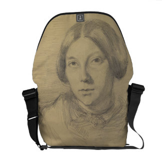 Portrait of a woman, possibly George Sand (1804-76 Messenger Bag