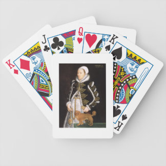 Portrait of a Woman, probably Catherine Carey, Lad Bicycle Playing Cards