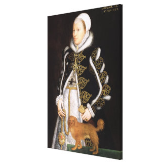 Portrait of a Woman, probably Catherine Carey, Lad Stretched Canvas Print