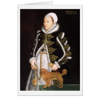 Portrait of a Woman, probably Catherine Carey, Lad Card