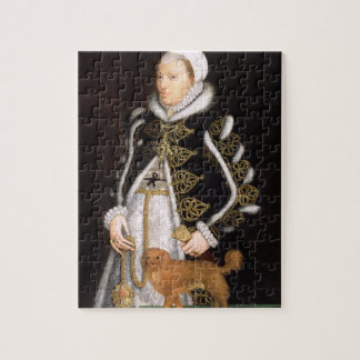 Portrait of a Woman, probably Catherine Carey, Lad Jigsaw Puzzle