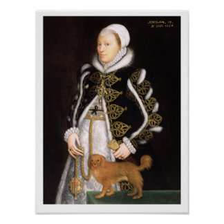 Portrait of a Woman, probably Catherine Carey, Lad Poster