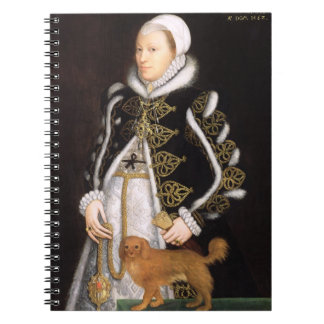 Portrait of a Woman, probably Catherine Carey, Lad Spiral Notebook