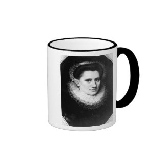 Portrait of a woman ringer coffee mug