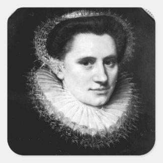 Portrait of a woman square sticker