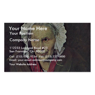Portrait Of A Woman Suffering From Obsessive Envy, Double-Sided Standard Business Cards (Pack Of 100)