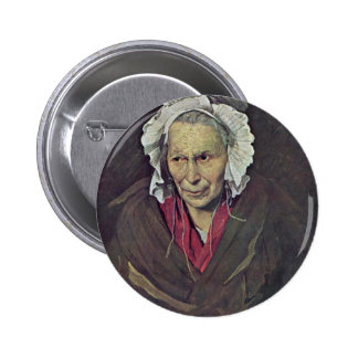 Portrait Of A Woman Suffering From Obsessive Envy, 2 Inch Round Button