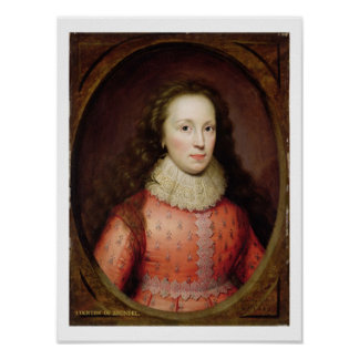 Portrait of a Woman, traditionally identified as t Poster