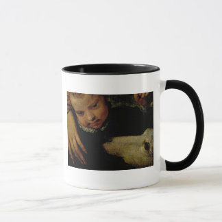 Portrait of a Woman with a Child and a Dog, detail Mug
