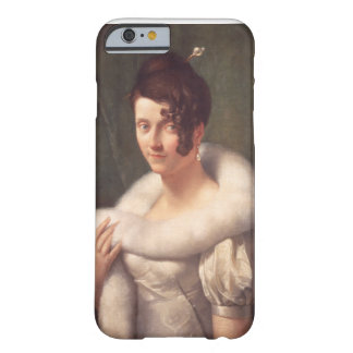 Portrait of a woman with a hair pin barely there iPhone 6 case