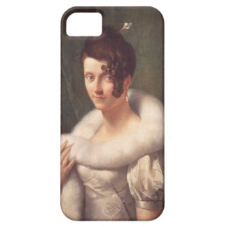 Portrait of a woman with a hair pin iPhone SE/5/5s case