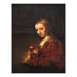 Portrait Of A Woman With A Red Carnation, English: Letterhead