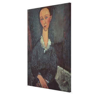 Portrait of a Woman with a White Collar (oil on ca Canvas Print